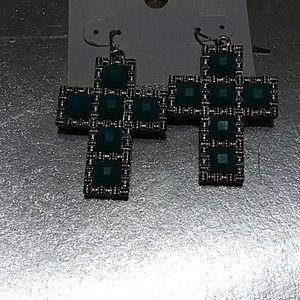 Genuine Swarovski Crystals earrings crosses